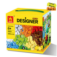 625pcs Original WANGE Small Building Blocks More Various Accessories Compatible with Legoed Bricks Educational Toys