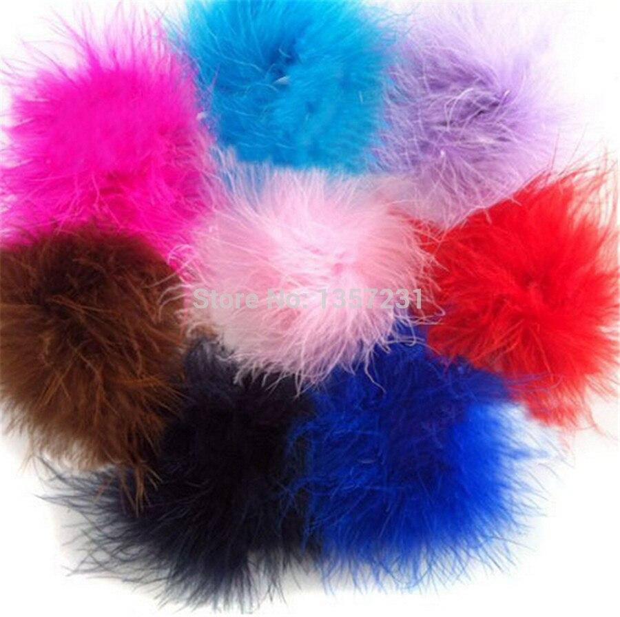 300 шт./лот модные curl страусиный Пух Детская одежда на пуху перо для волос
