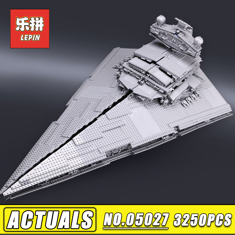 Lepin 05027 3250pcs Stars Series War Super Star Destroyer set Building Blocks Bricks Legoinglys DIY Toys Children Gift 10030 lepin 05077 stars series war the ucs rupblic set star destroyer model cruiser st04 diy building kits blocks bricks children toys