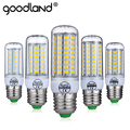 Goodland LED Lamp E27 220V 240V LED Bulb Corn Light No Flicker Smart  IC 24 36 48 56 69 81 89LEDs SMD 5730 Chandelier Lighting