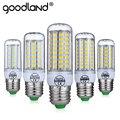 Goodland conduziu a lâmpada e27 220 v 240 v lâmpada led de milho luz sem cintilação IC inteligente 24 36 48 56 69 81 89 LEDs SMD 5730 Lustre iluminação