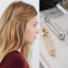 Get more info on the Simple Clips Cute Hair Clip Brooch Pin Shape Hair Clip Women Girl Hair Stylish oro y plata horquillas accesorios para el cabello