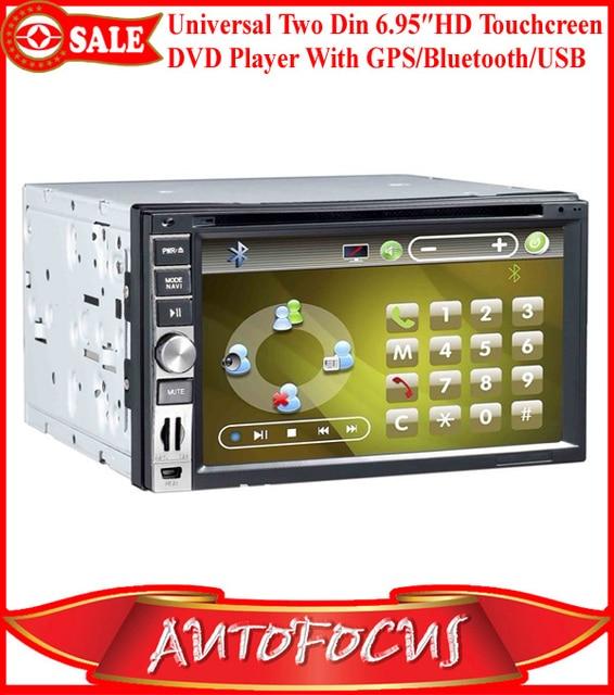"Universal 6.95"" Digital Touchscreen Two Din Car DVD Player Support GPS/Bluetooth/ TV/AV/FM/AM/SD/USB Good Quality!!!"