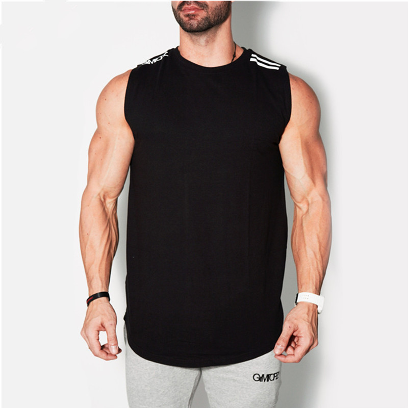 2018 Newest Summer Brand Men Vest   Tank   Casual Gyms Stringers Clothing Fitness Male   Tanks     Tops   3 Color