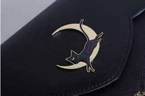 Image 4 - 1 piece metal cat moon logo anime sailor moon luna Envelope message Shoulder bag day clutch  tote bag