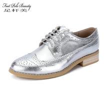 0482ef031f874a PÔLE de PIED de BEAUTÉ Femmes chaussures En Cuir Véritable plat chaussures  Plus La Taille Femme