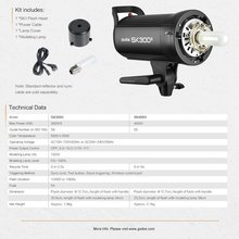 Godox SK400 II 400Ws GN65 Professional Studio Light Built-in Godox 2,4G Wireless X System