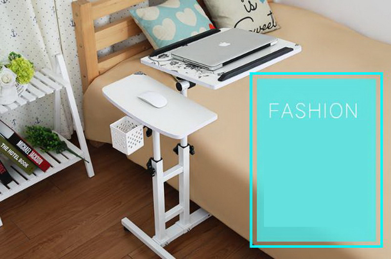250309/Folding mobile small desk/Home bed with simple desk /Paint ...
