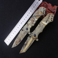 Outdoor Reed Camouflage Folding Desert Survival Knives Tools High Hardness Stainless Steel Tactical Hunting Knives For