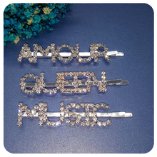 New Arrival Blingbling Hair Clips Accessory British Style Crystal Bobby Pins Jewelry Wholesale