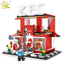 282pcs KentuckyFried Chicken KEC Fast Food Shop Building Blocks Compatible Legoed Minecrafted Street Architecture Bricks Toys(China)