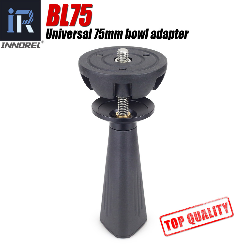 BL75 75mm Universal Bowl Adapter Metal Half Ball Hemisphere To Tripod Bowl For Tripod Fluid Head DSLR Camera High Quality CNC