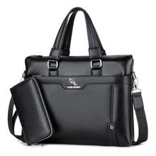 YUESKAN GAROO Brand Fashion Leather Men's Crossbody bags Business Lapto