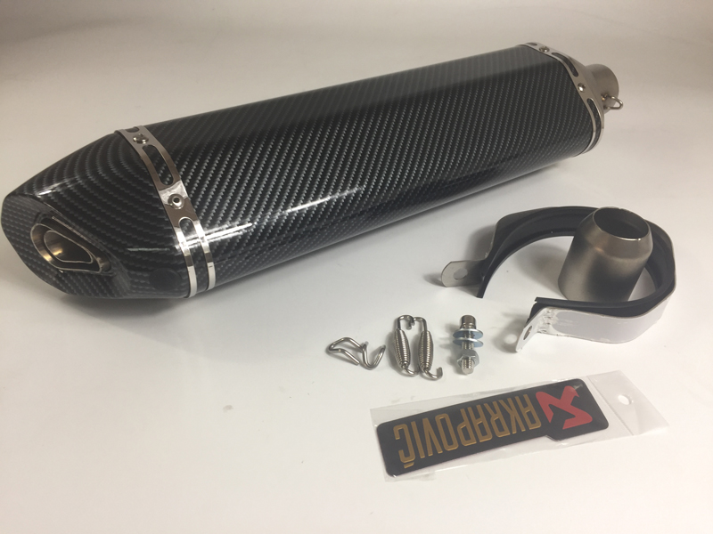 Motorcycle Akrapovic Exhaust Pipe Inlet 51mm Length 570mm Stainless Steel Motorbike Exhaust Muffler Escape with DB Killer motorcycle universal exhaust for akrapovic large displacement inlet 51mm muffler pipe with db killer steel carbon aluminum new