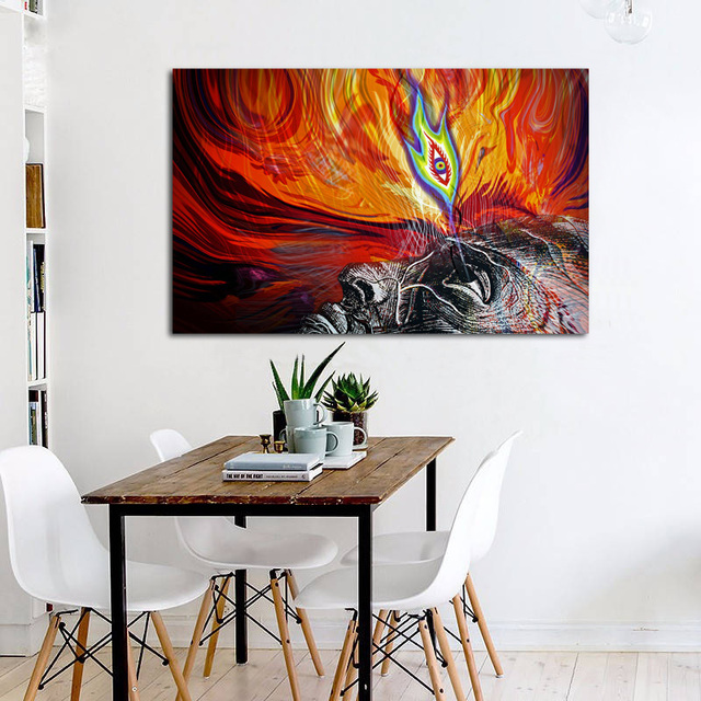 Tool Lateralus Awaken The Third Eye Abstract Living Room Home Wall Art Decor Wood Frame Fabric