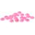 9-12mm 1000/2000 pcs Luz Subiu AB Resina ABS Half Round Imitação Pérolas Beads Casamento Do Girassol cartões de Decoração Enfeites