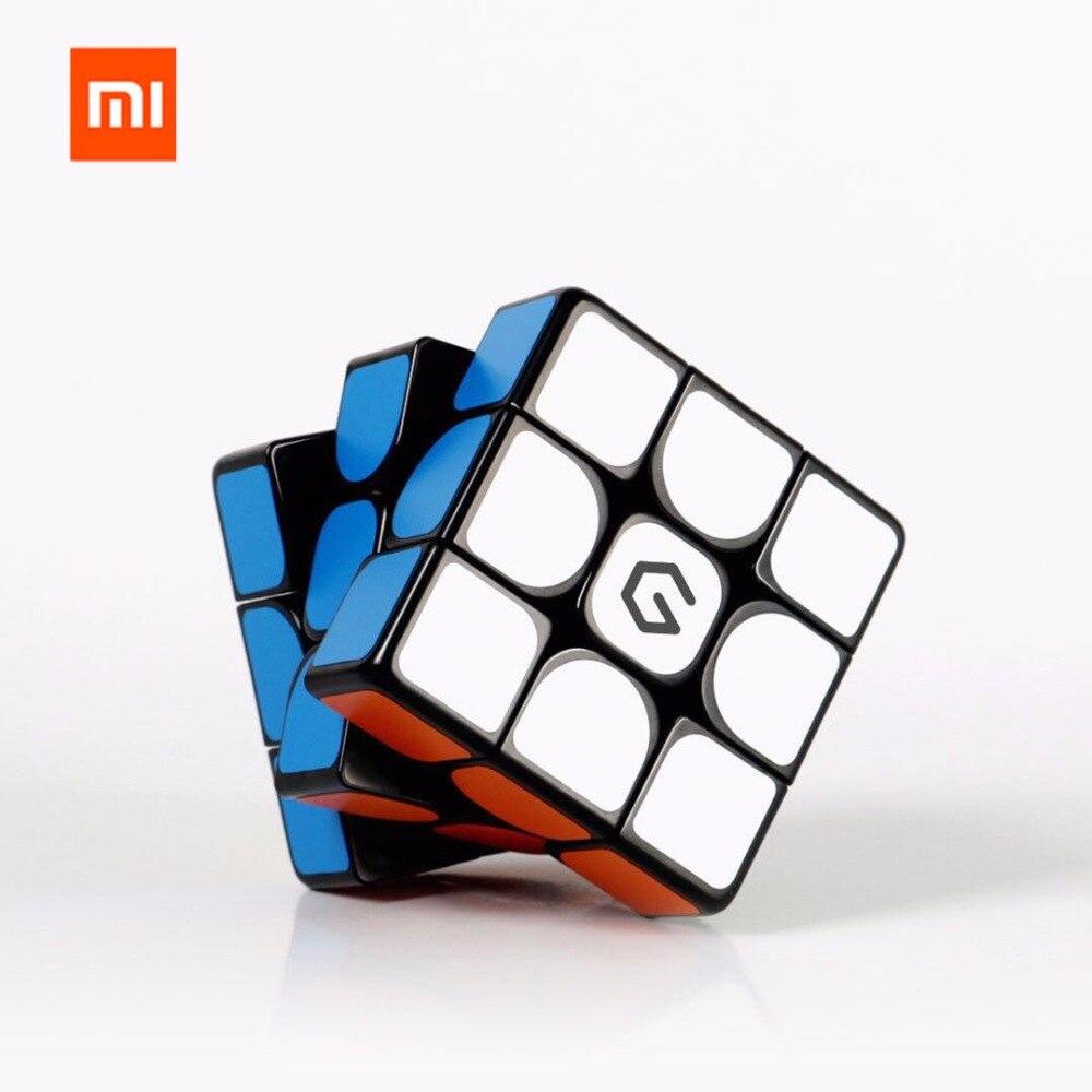 Original 샤오미 Mijia Giiker M3 마그네틱 큐브 3x3x3 생생한 컬러 스퀘어 매직 큐브 퍼즐 과학 교육 giiker app와 함께 작동
