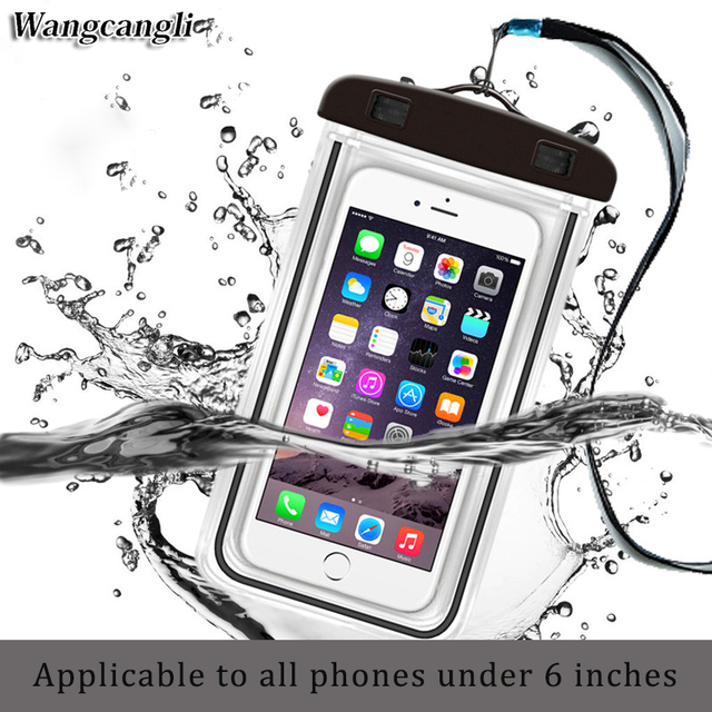 huge selection of a3f59 75aae US $2.0 13% OFF|Universal swim waterproof case for phone pouch cover  fluorescent for iPhone for xiaomi Mobile waterproof case cases Bag-in Phone  Pouch ...
