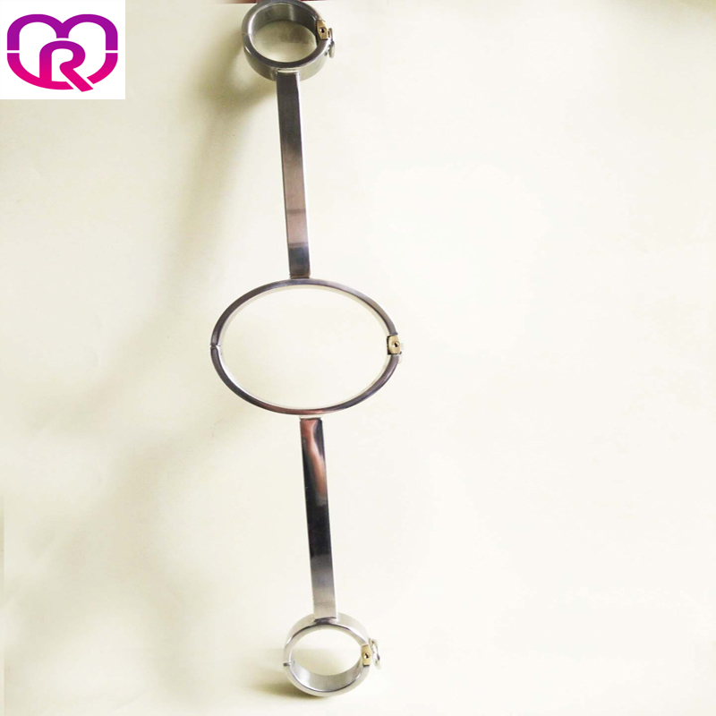 stainless steel collar sex bdsm women oval handcuffs for sex Fixed locking steel collar bondage adult sex toys for couples платье vila vila vi004ewupu69
