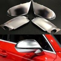 4 шт. серебристый ABS хромированные боковые зеркала заднего вида Замена заглушки для Audi A7