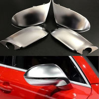 4pcs Silver ABS Chrome Side View Mirrors Replacement Caps Cover For Audi A7