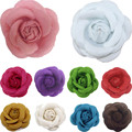 Hot Women  11 Colors Fashion Chic Charm Elegant Corsage Camellia Wedding Brooch Pin Jewelry Accessory broches para as mulheres