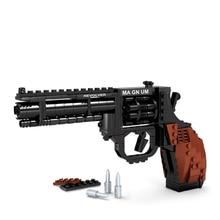 1set 300pcs Revolver blocks Compatible Magnum Revolver Toy Puzzle assembling plastic block for boys 32cm*21.5cm*5cm block toys