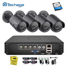 Techage 4CH 1080N AHD DVR CCTV Security System 1080P 2.0MP IR Night Vision Indoor Outdoor Camera Video Surveillance Set DIY Kit