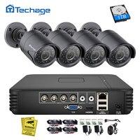 Techage 4CH 720 P AHD DVR CCTV безопасности Системы 1.0MP 1200TVL ИК Ночное видение комнатная наружная камера видео набор для наблюдения DIY Kit