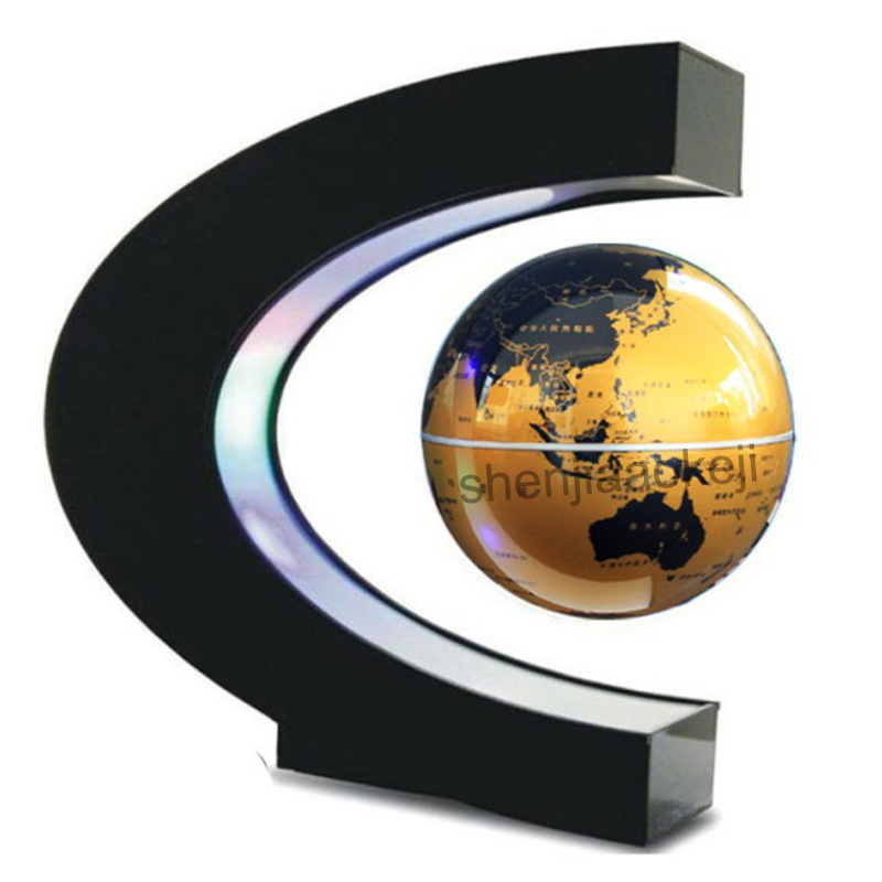 School supplies Magnetic levitation globe Magnetic Floating Globe World Map teaching resources home Office Desk Decoration 1pc