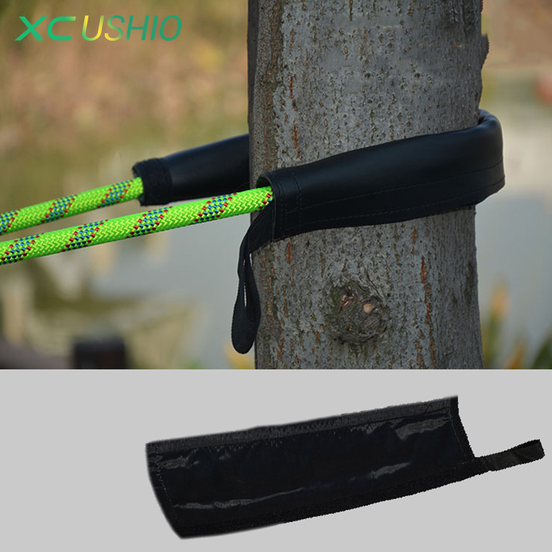 High Strength Anti Abrasion Leather Cover Rope Protection Magic Tape Rope Protection Sleeve for Outdoor Adventure Climbing image
