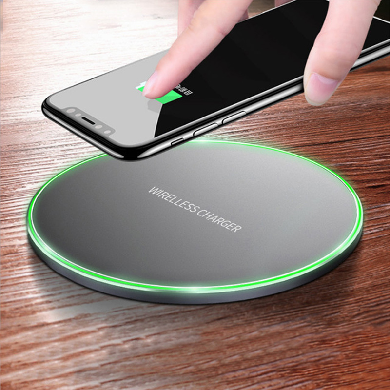Qi Wireless Charger Pad For iPhone X 8 Samsung Galaxy S9 S8 Fast Charging Mobile Phone Desktop Wireless Charging Dock Station