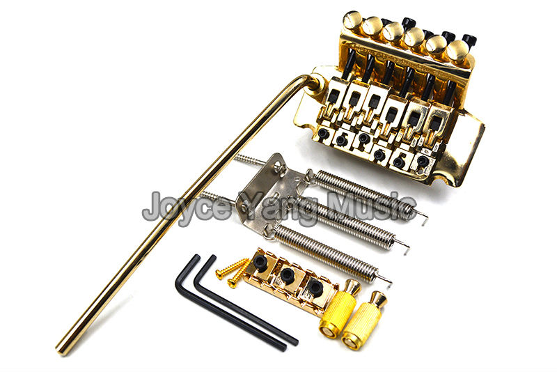 Gold Floyd Rose Lic Electric Guitar Tremolo Bridge Double Locking Assembly System Free Shipping Wholesales genuine original floyd rose 5000 series electric guitar tremolo system bridge frt05000 black nickel cosmo without packaging