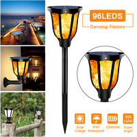 LED Solar Lamp Landscape torch light Solar Lawn light Waterproof IP65 Ground Stake Base Wall Lamp for Garden Courtyard Stairs