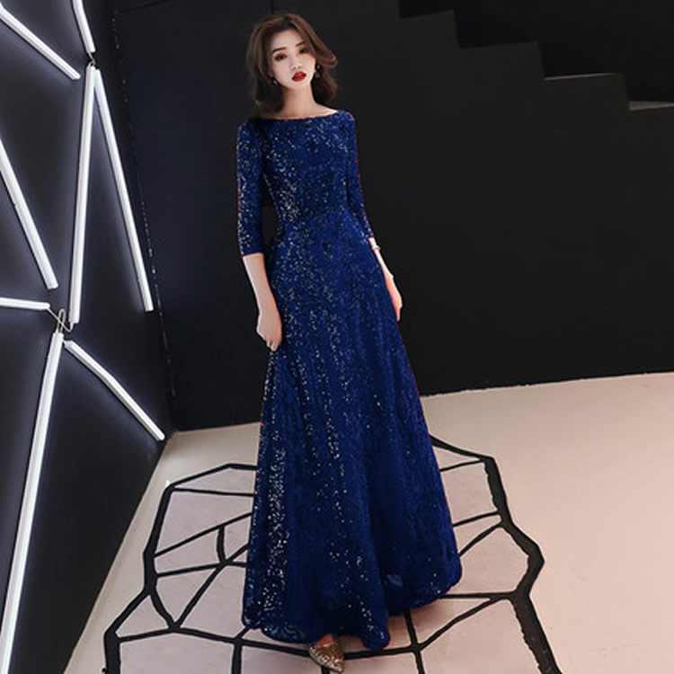 S 3xl Luxury Sequined Women Long Evening Party Dress Plus Size High Waist Gold Sequin Women Black Dress New Year Retro Vestidos in Dresses from Women 39 s Clothing