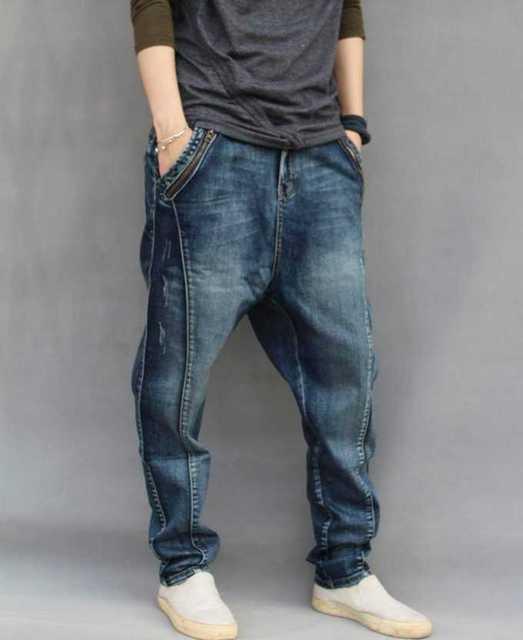Calças masculinas calças skinny harem pants plus size primavera calça jeans  masculina hiphop Hiphop solto harlan cc5bb4ca4fb70