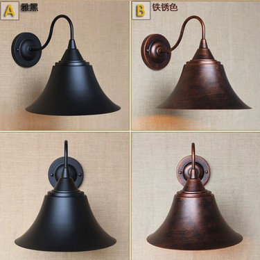 Edison Retro Loft Style Sconce Vintage Wall Light For Home Antique Industrial Wall Lamp Iron Horn Indoor Lighting Luz De Pared loft style iron edison wall sconce industrial lamp wheels vintage wall light fixtures antique indoor lighting lampara pared