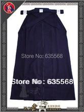 Top Quality 6000# 100% Cotton Shoaizome Navy Blue Kendo Iaido Aikido Hakama Martial Arts Uniform Sportswear Free Shipping