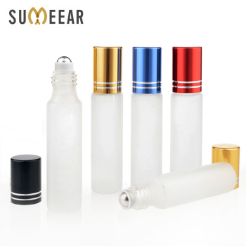 100 Pieces/Lot 10ml Mini Refillable Perfume Bottle Frosted Glass Roll On Essential Oil Vial Trave lEmpty Perfume Sample Bottle 1g 99 9% zirconium metal piece s in glass vial element 40 sample