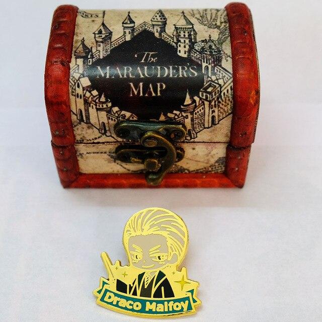 Металлические брошки Гарри Поттер в подарочной коробке 1