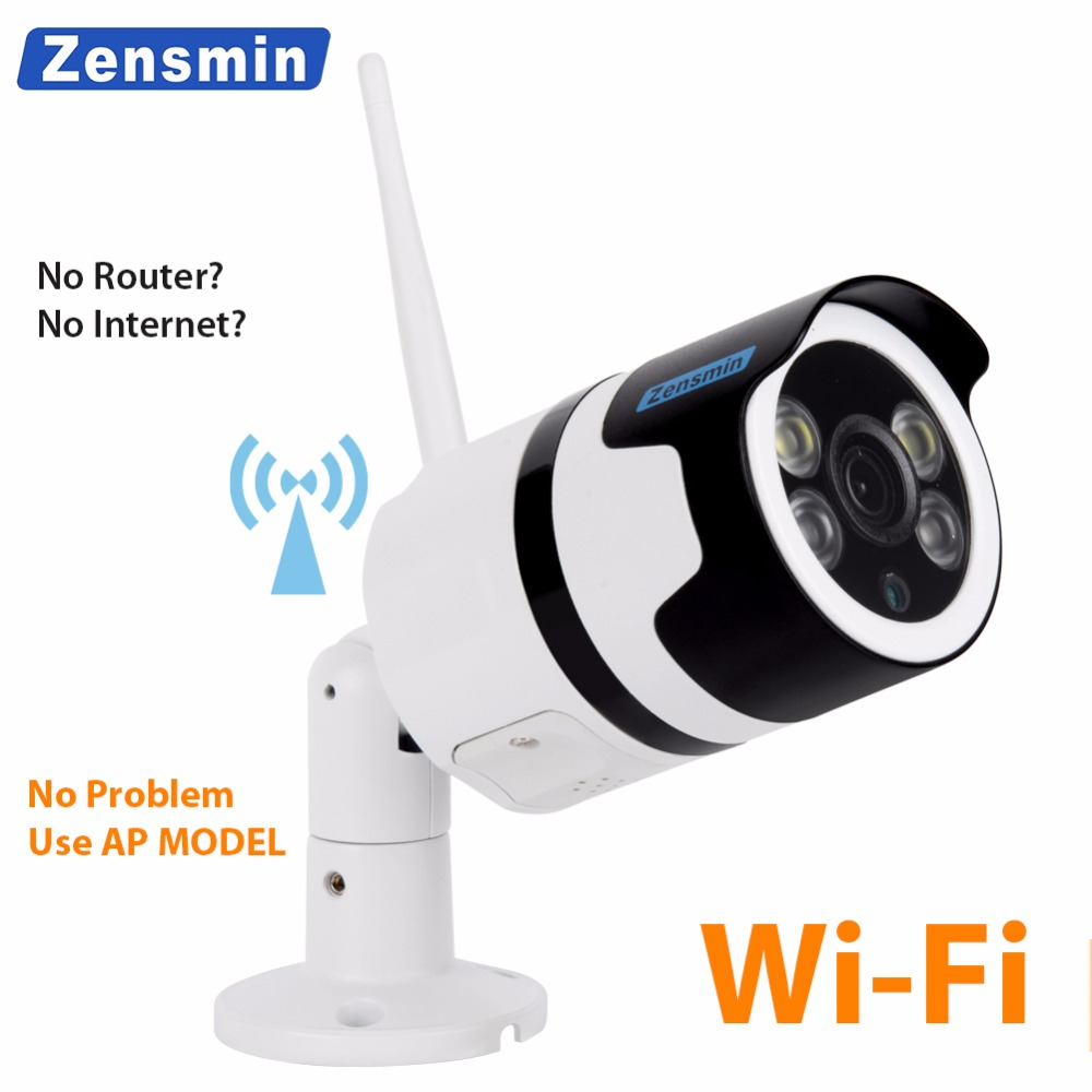 цена Zensmin fullHD 1080p wireless smartlink IP Camera double type light keep color image AP camera home security video surveillance в интернет-магазинах