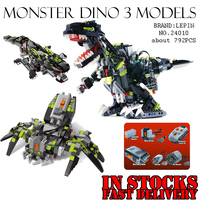 NEW LEPIN 24010 792pcs Science And Technology Building Blocks Super 3 In 1 Dinosaur Remote Control