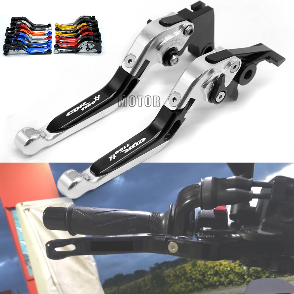 Motorcycle Brake Clutch Levers For Honda CBR 1100 XX BLACK BIRD CBR1100XX BLACKBIRD 1997 2007 Adjustable Folding Extendable