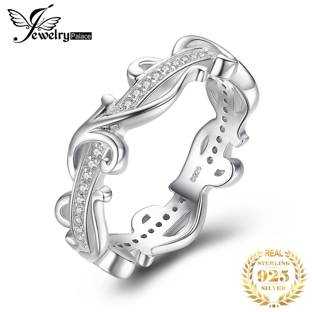 JewelryPalace Vintage Flower Cubic Zirconia Anniversary Wedding Band 925 Sterling Silver Ring Beautiful 2018 New Hot For WomenJewelryPalace Vintage Flower Cubic Zirconia Anniversary Wedding Band 925 Sterling Silver Ring Beautiful 2018 New Hot For Women