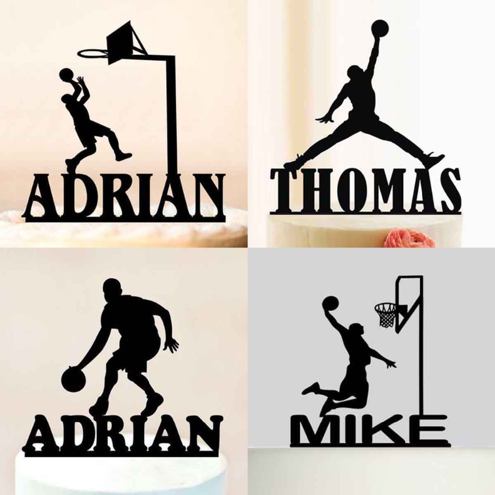 Custom Name Basketball Cake Topper Sport Michael Jordan ...