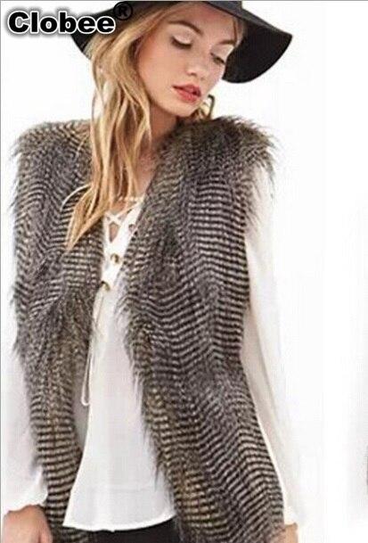 2019 2018 Vrouwen Struisvogelveren Jas V-hals Mouwloos Vest Gilet Fourrure Femme Lange Stijl Dikke Warme Vest Vrouwelijke X985