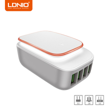 LDNIO USB Phone Charger 4 Ports Wall Charger 5V 4.4A Output EU/US/UK Plug for Xiaomi iPhone 7 Samsung Galaxy Travel Charger