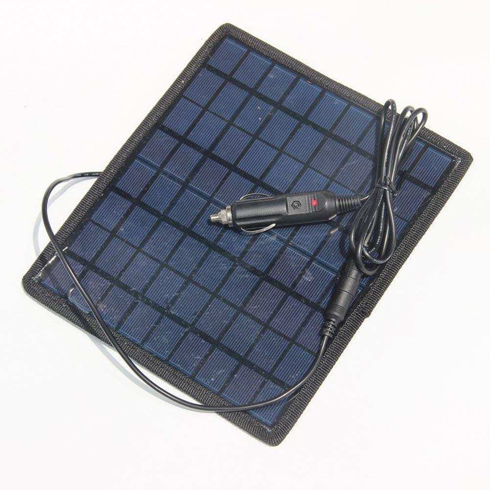 2016 New 5 5W 18V Portable Solar Panel Super power Charger Backup For 12V Car Boat