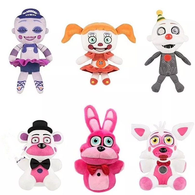new 1pieces/lot 18-25cm 15style plush Bonnie china foxy freddy doll toy Furnishing articles Children's gift new 1pieces lot pvc qq mini shape shifting robot car monster machines furnishing articles children s gift