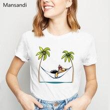 Yorkie Island Princess dog animal printed t shirt women clothes 2019 funny vogue tshirt  femme streetwear female t-shirt tops цена и фото